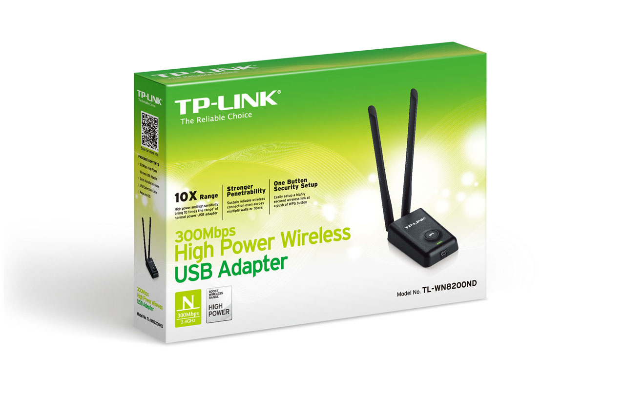 ADAPTADOR DE RED INALAMBRICO USB TP-LINK HIGH POWER 30OMBPS