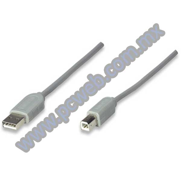 CABLE PARA IMPRESORAS USB AB 3 MTS MANHATTAN 317863
