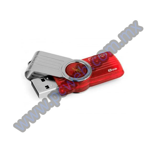 MEMORIA USB KINGSTON DT101 ROJA 8GB