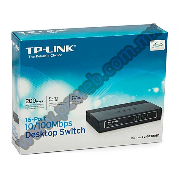 SWITCH ETHERNET TP-LINK 16 PUERTOS TL-SF1016