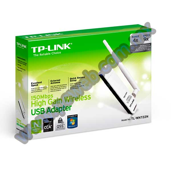 ADAPTADOR DE RED INALAMBRICO N USB TL-WN722N